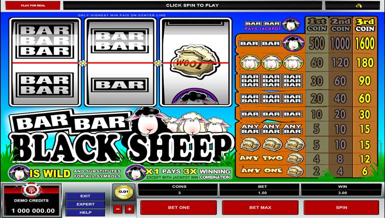 Bar Bar Black Sheep slot - spil online gratis