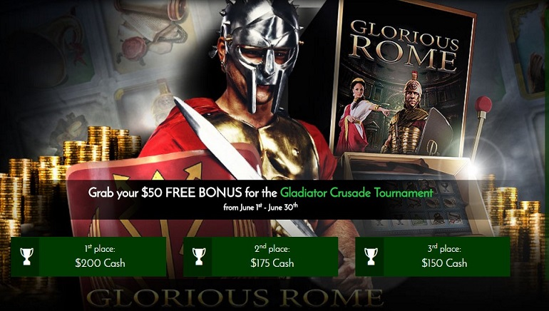 Ontvang Gratis $50 Tijdens de Exclusive 7Spins Gladiator Crusade Tournament