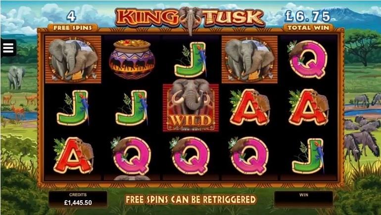Nieuwe King Tusk Slot Met Een Olifanten-Thema Van Microgaming Nieuwigheden